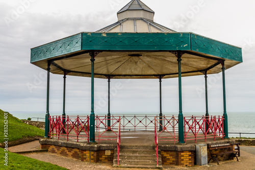 Band stand bandstand with sea in background, landscape Canvas Print