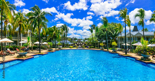 Luxury tropical vacation. Mauritius island
