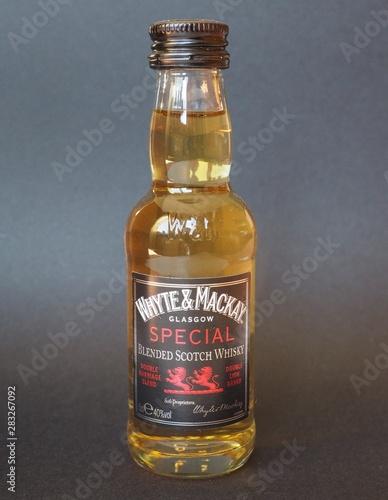 GLASGOW, SCOTLAND - JANUARY 6, 2015: Whyte and Mackay whisky