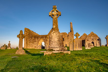 Clonmacnoise Monastery In Ireland Countryside