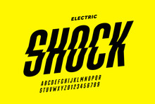 Eclectric Shock Style Font Des...