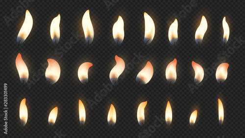 Candle flame Canvas Print