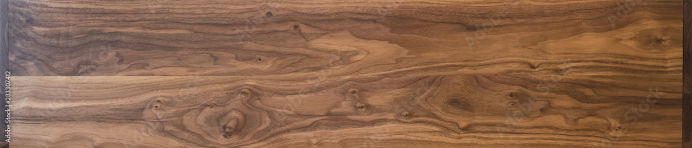Fototapety, obrazy: Real long black walnut wood texture with natural grain
