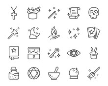 Set Of Magic Icons, Halloween, Fantasy