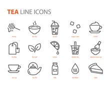 Set Of Tea Icons, Cafe, Cup Tea