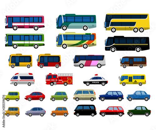 Fotomural  自動車バスセット