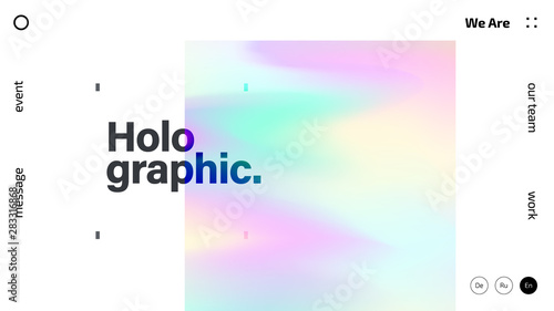 Fotografija  Holographic texture abstract background design, colorful gradient fluid wallpape