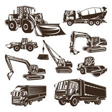 Heavy Equipment Logo Design Vector. Heavy Equipment Logo Template. Illustration