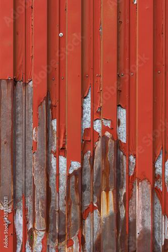 Poster Glisse hiver Verwitterte Metallwand