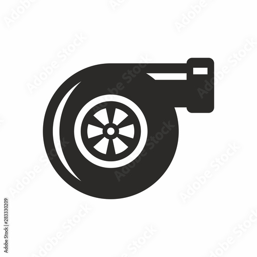 Cuadros en Lienzo  Turbocharger icon isolated on a white background