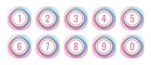 Circles And Numbers In Pastel ...