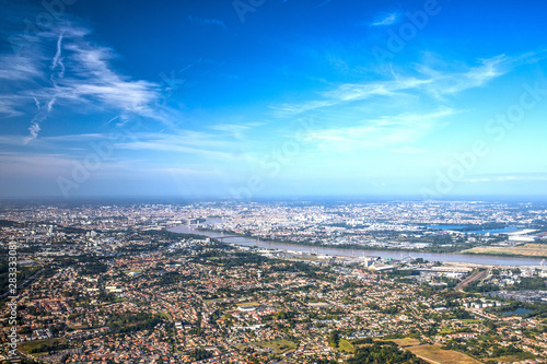 Photo Bordeaux, garonne and girone from skyview
