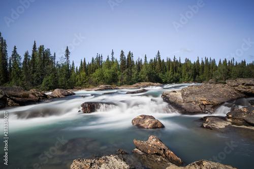Fototapeten Wasserfalle Stromschnellen