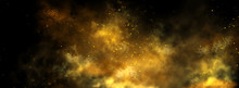 Abstract Magic Gold Dust Backg...
