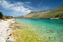 Crystal Clear Water Of Ionian Sea In Porto Palermo In Albania