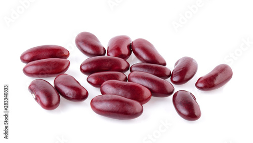Fototapeta red beans isolated on the white background. obraz