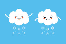 Set, Collection Of Snowing Clo...