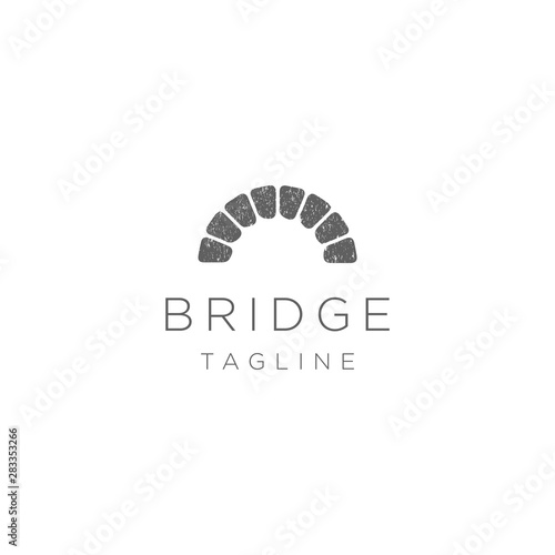 Simple Canal / Waterway Brick Bridge Logo Canvas-taulu