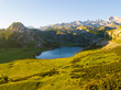 canvas print picture Beautiful landscape and lakes of Covadonga, Peaks of Europe