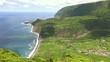 Coast view of Fajazinha , Flores Island, Portugal