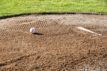 Pitchers Mound With New Baseball Ready To Play Ball