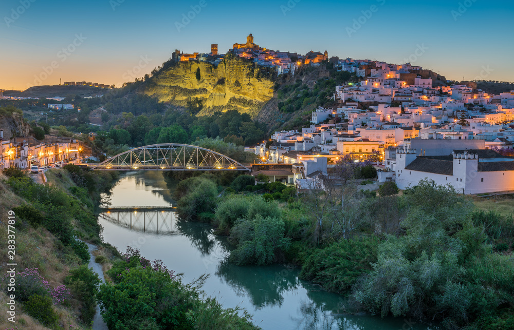 Fototapety, obrazy: Scenic sight at sunset in Arcos de la Frontera, province of Cadiz, Andalusia, Spain.