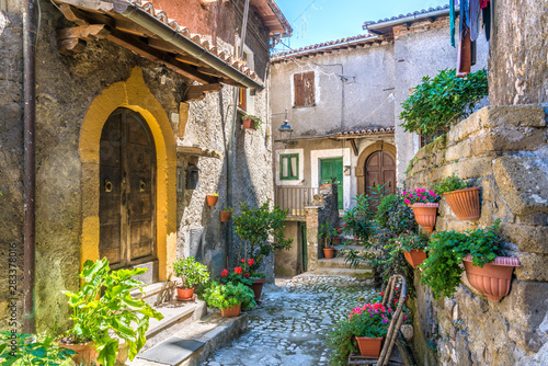Scenic sight in Artena, old rural village in Rome Province, Latium, central Italy.