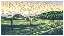 Rural Landscape With Village I...
