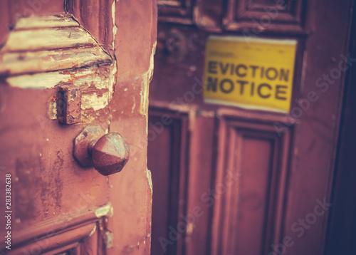 Eviction Notice On Door Wallpaper Mural