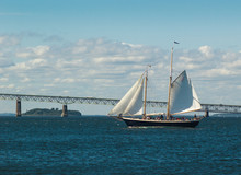 Two-masted Sailing Yacht In Fr...