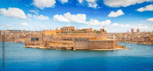 Fotografie, Obraz Grand Harbour landscape, Valletta, Malta.