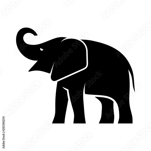 Elephant logo. Icon design. Template elements Wallpaper Mural