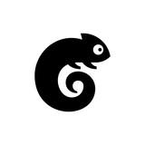 Fototapeta Fototapety na ścianę do pokoju dziecięcego - Chameleon Logo. Icon design. Template elements