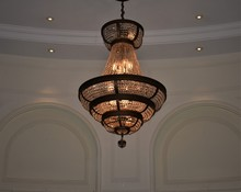 French Chandelier Hanging In B...