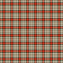 Country Red White Tartan Checkered Seamless Decorative Clothing Pattern