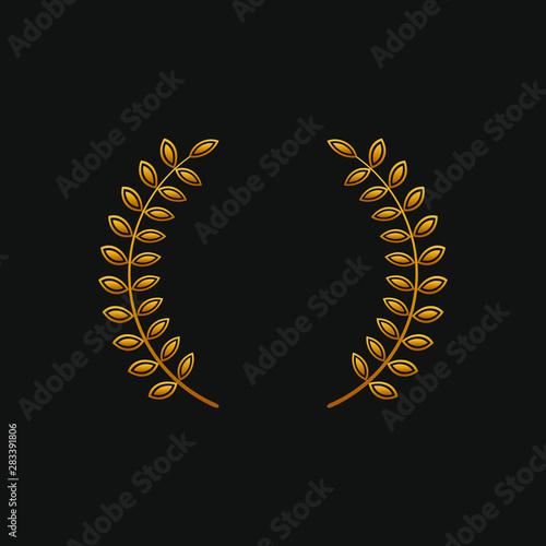 Laurel wreath icon in gold Fototapet