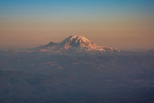 View On Mount Rainier From Air...