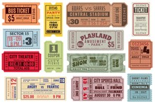 Retro Tickets. Vintage Cinema ...