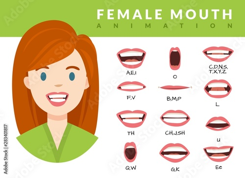 Photo Female mouth animation
