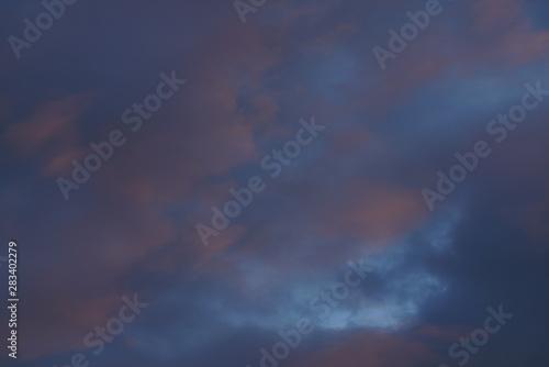 Foto auf AluDibond Darknightsky Soft weak sensual sky