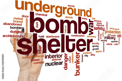 Bomb shelter word cloud Canvas Print