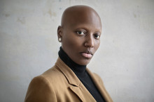 Portrait Of A Beautiful Bald W...