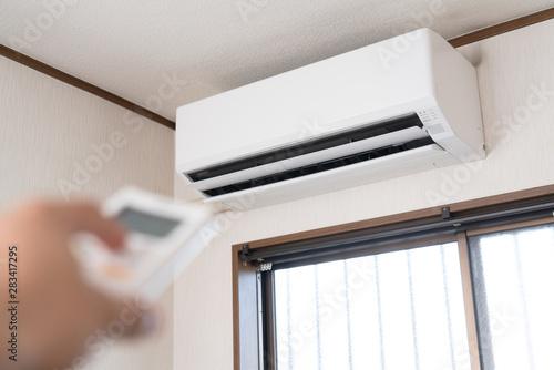 エアコンの室内機 Canvas Print