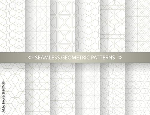 Set of seamless geometric patterns Canvas-taulu