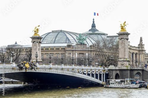 Fotografia  Senna river, Photo image a Beautiful panoramic view of Paris Metropolitan City