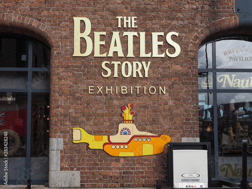 LIVERPOOL, UK - CIRCA JUNE 2016: The Beatles Story sign