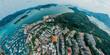 Panorama aerial view of Sai Kung, Hong Kong