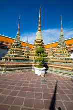 Architecture Of Old Buddhist Pagoda In Wat Pho Sightseeing In Bangkok