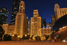 The Millennium Park Chicago At Night