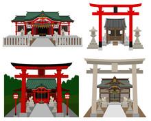 神社稲荷神社セット